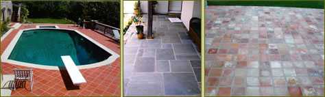 Images of outdoor and indoor tilework